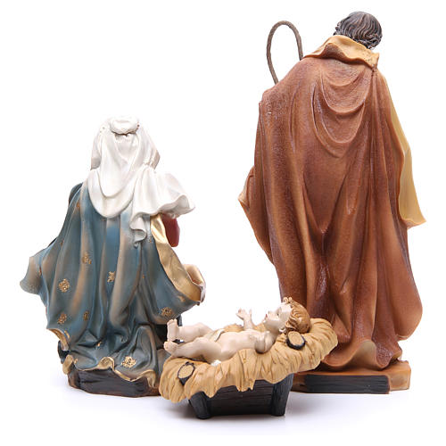 Nativity scene with ox and donkey, 30cm in resin 3