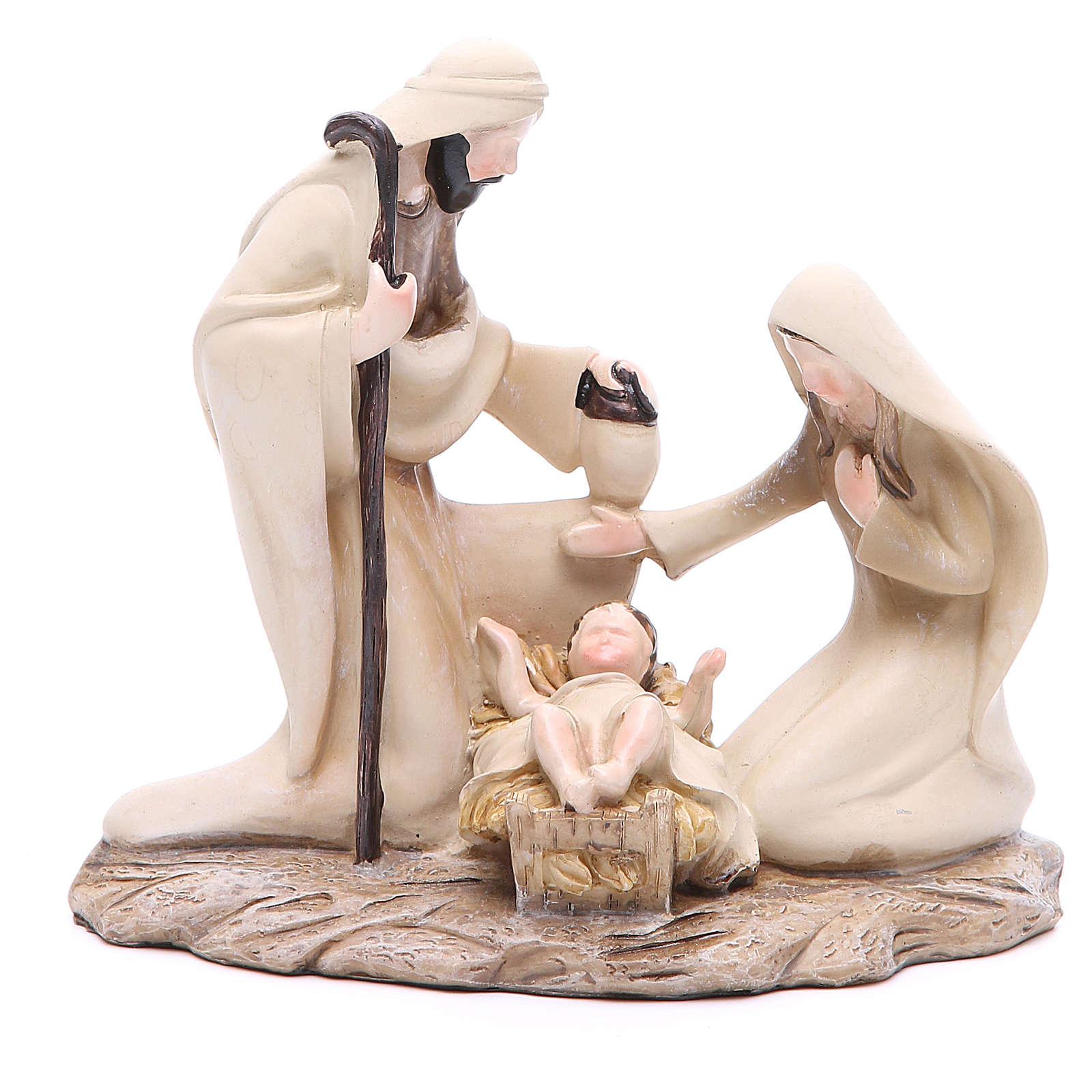 Święta Rodzina stylizowana 15 cm z żywicy 3