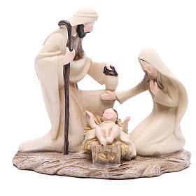 Stylised nativity in resin measuring 15cm s1