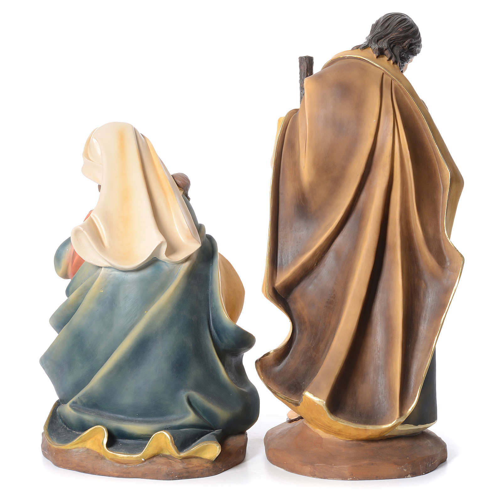 Nativity in resin with 3 figurines measuring 1 meter 3