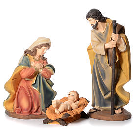 Nativity in resin with 3 figurines measuring 1 meter s1