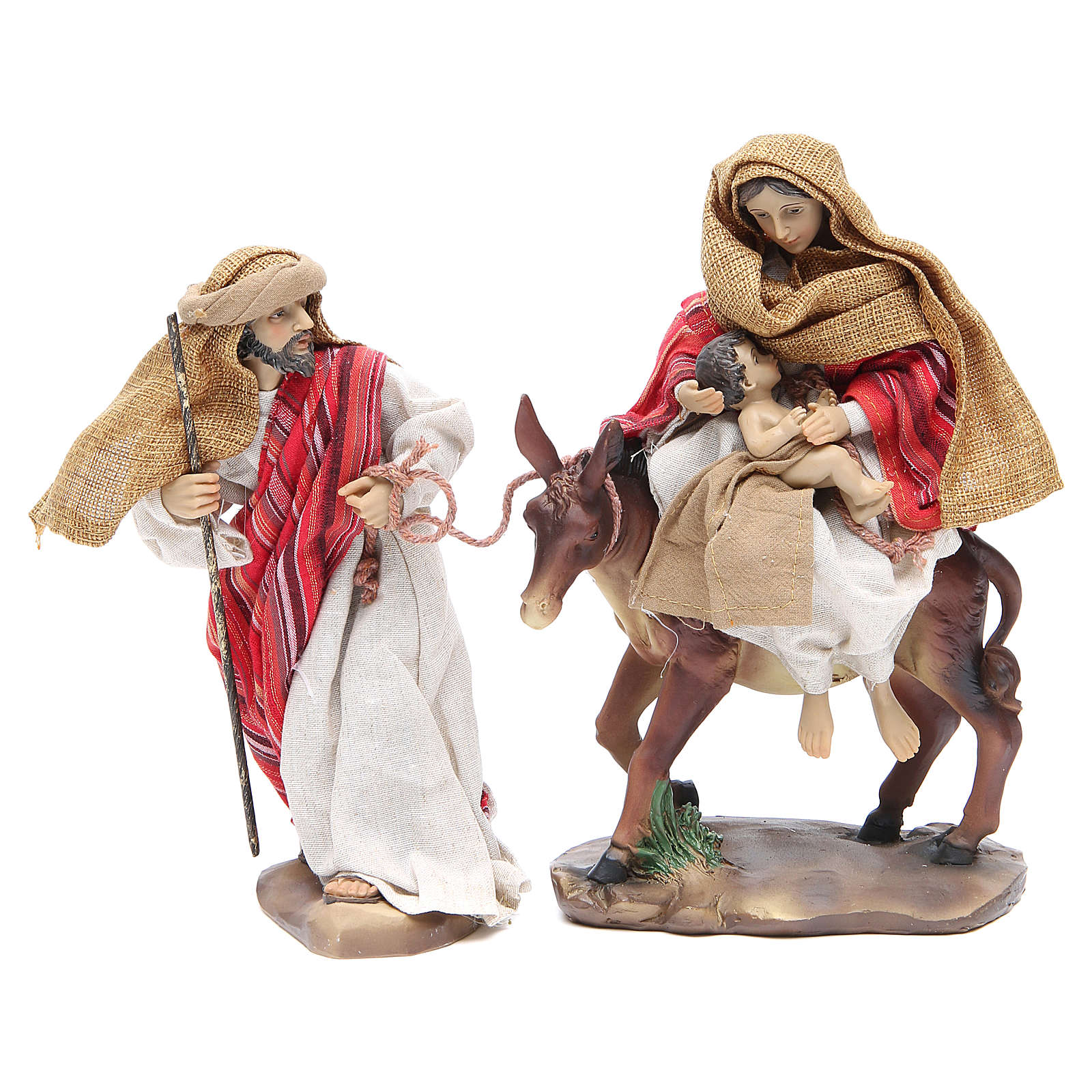 Flee from Egypt 24cm, 2 figurines with Red Beige finish 3