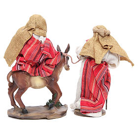 Flee from Egypt 24cm, 2 figurines with Red Beige finish s3
