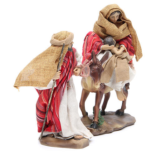 Flee from Egypt 24cm, 2 figurines with Red Beige finish 2