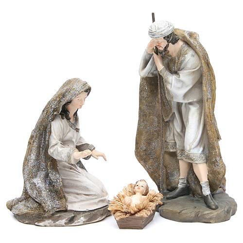 Nativité résine 31,5 cm 3 pcs fin. Cream Gold 1