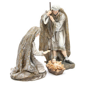 Nativity measuring 31.5cm, 3 figurines in resin with Cream Gold finish s3