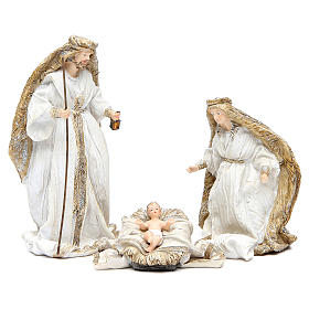 Nativity measuring 19cm, 3 figurines in resin with Cream Gold finish s1