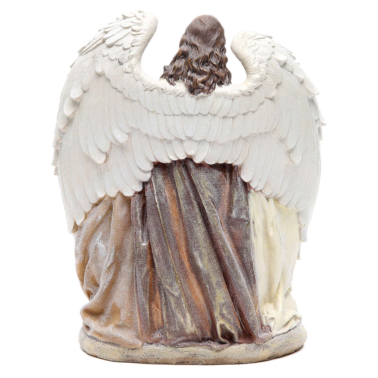 Sainte Famille avec ange 31 cm résine 3