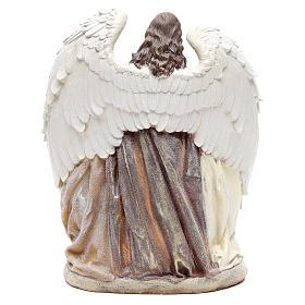 Sainte Famille avec ange 31 cm résine s3