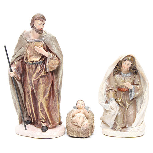 Nativity measuring 31cm, in resin with multi Gold finish 2