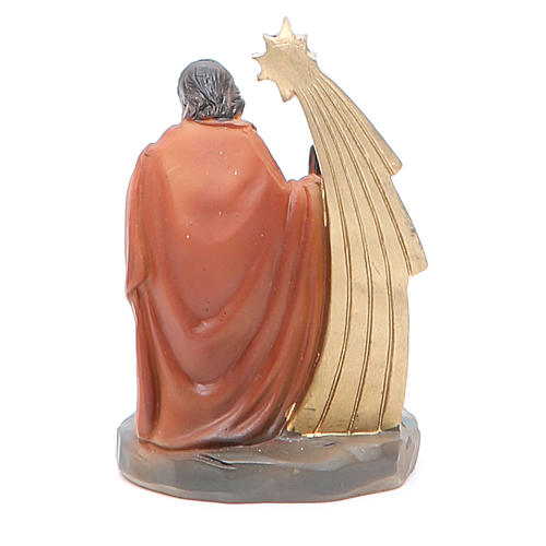 Nativity with 3 characters measuring 7cm, resin 2