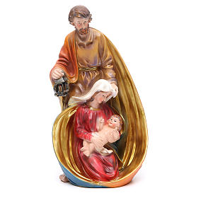 Holy Family set with 3 characters in coloured resin measuring 33cm s1