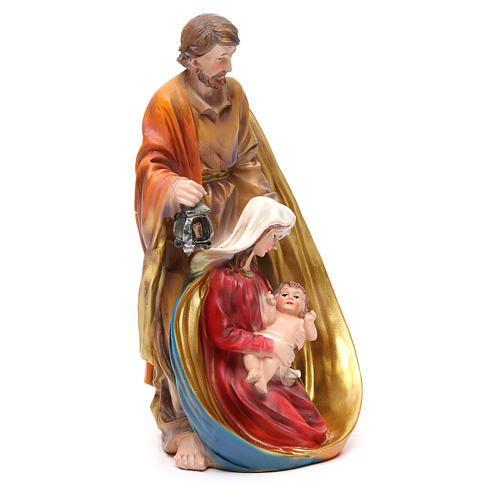 Holy Family set with 3 characters in coloured resin measuring 33cm 4