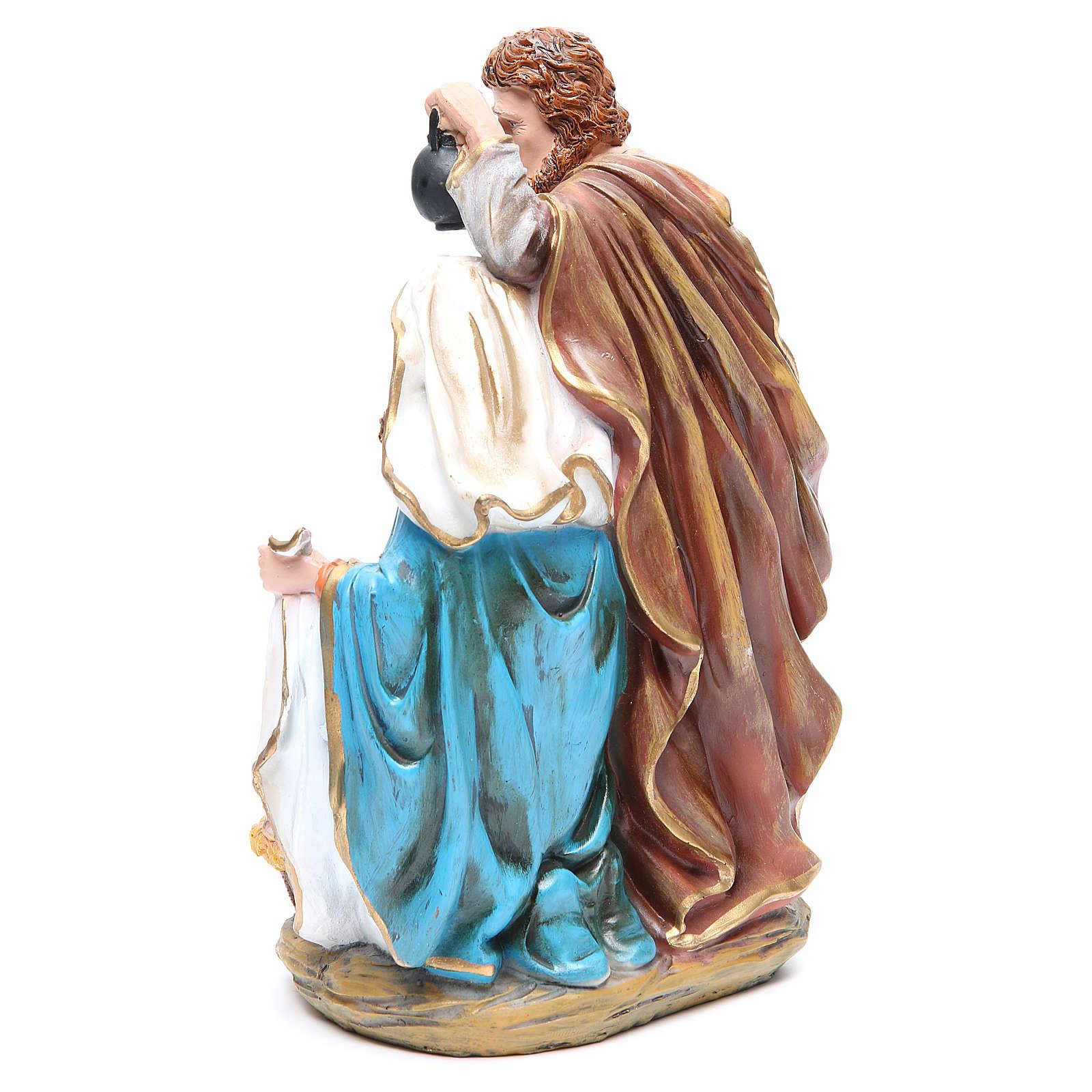 Nativité 3 santons résine h 30 cm 3