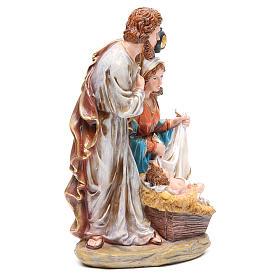 Nativité 3 santons résine h 30 cm s4