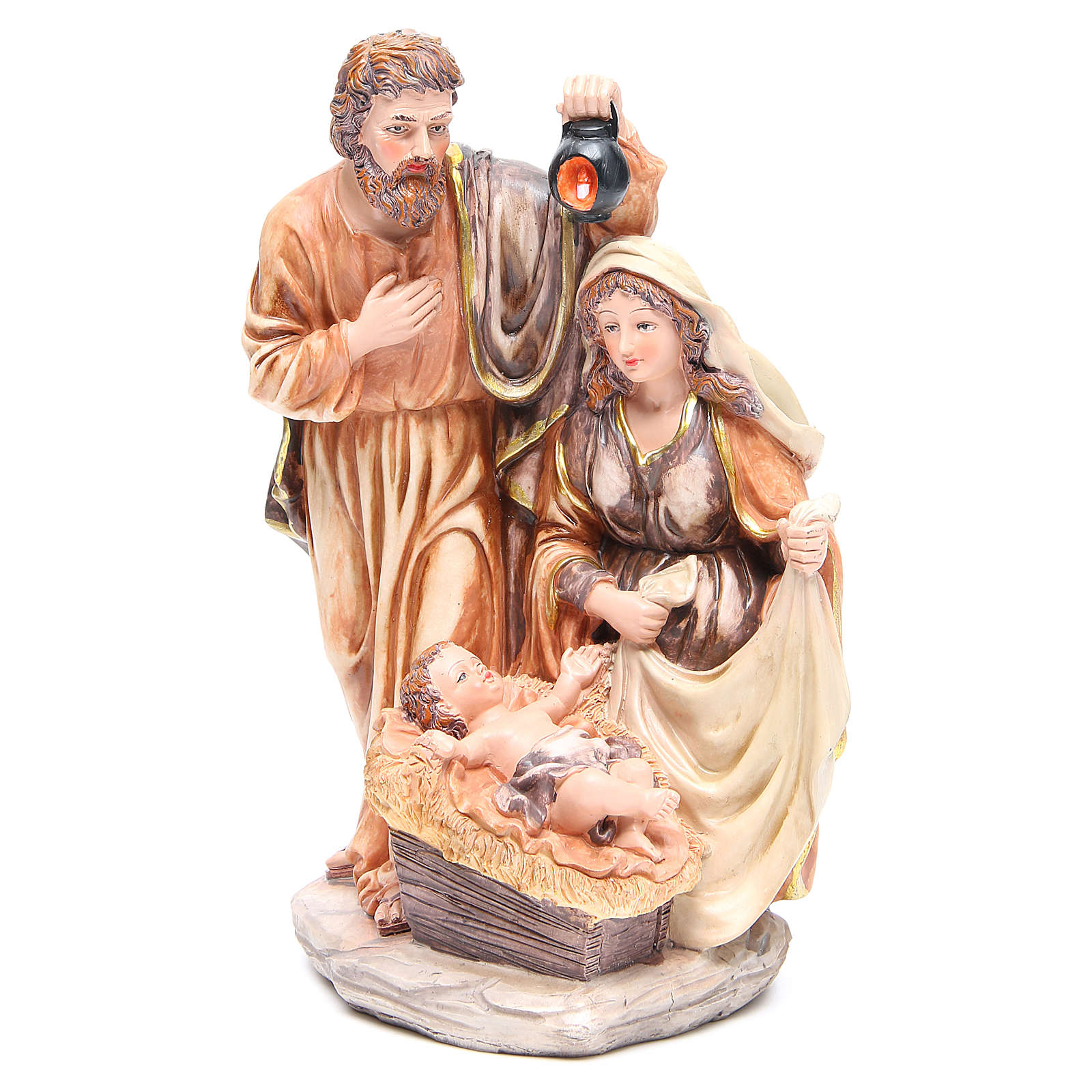 Nativity set with 3 characters in resin measuring 30cm 3