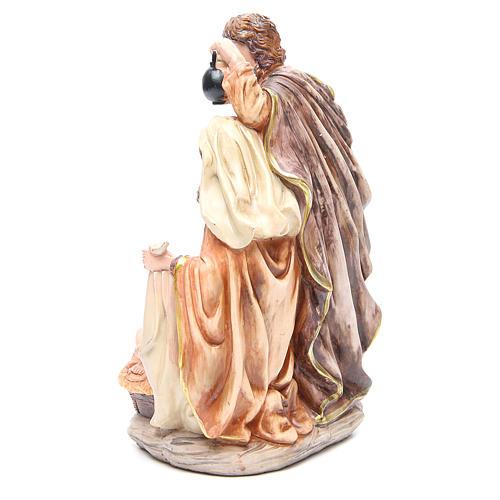 Scène Nativité résine h 30 cm 3