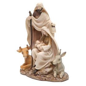 Nativité stylisée pièce unique h 22,5 cm résine s2