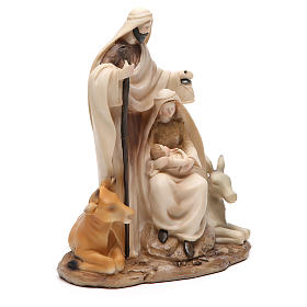 Nativité stylisée pièce unique h 22,5 cm résine s4