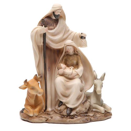 Nativité stylisée pièce unique h 22,5 cm résine 1