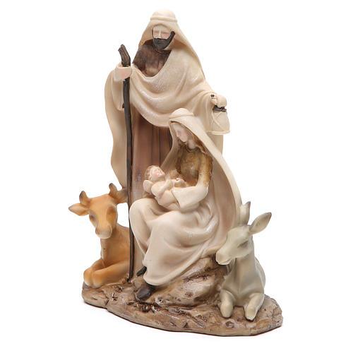 Nativité stylisée pièce unique h 22,5 cm résine 2