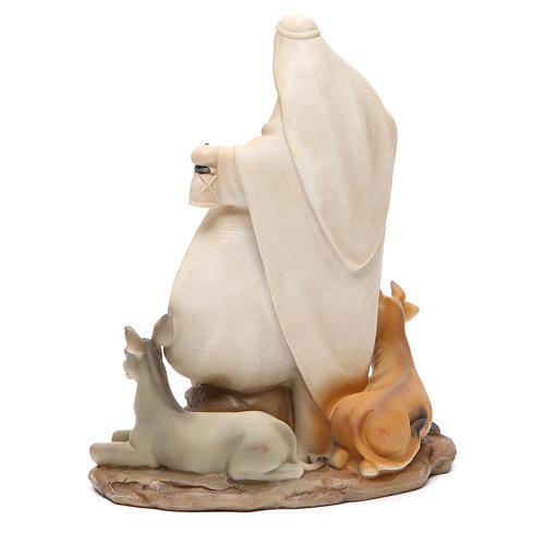 Nativité stylisée pièce unique h 22,5 cm résine 3