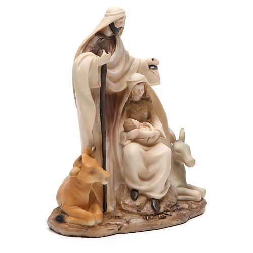 Nativité stylisée pièce unique h 22,5 cm résine 4