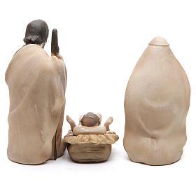 Nativité résine stylisée 3 pièces 21 cm s3