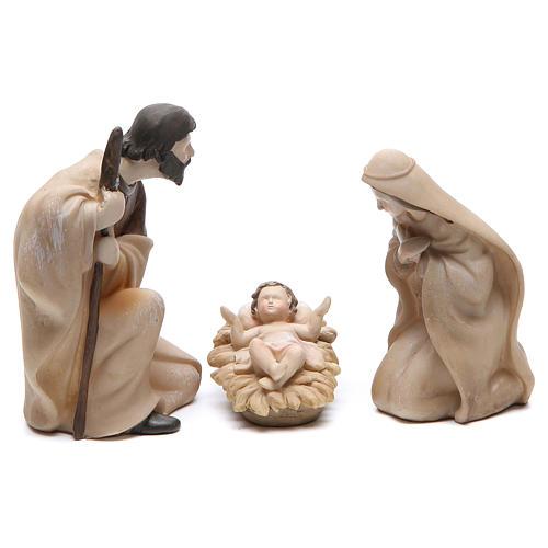 Nativité résine stylisée 3 pièces 21 cm 1