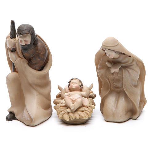 Nativité résine stylisée 3 pièces 21 cm 2