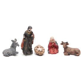 Mini Nativity scene in coloured resin 5 pcs, 3.3cm s2