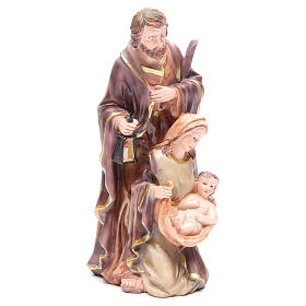 Nativity set with 3 figurines in resin measuring 30cm s4