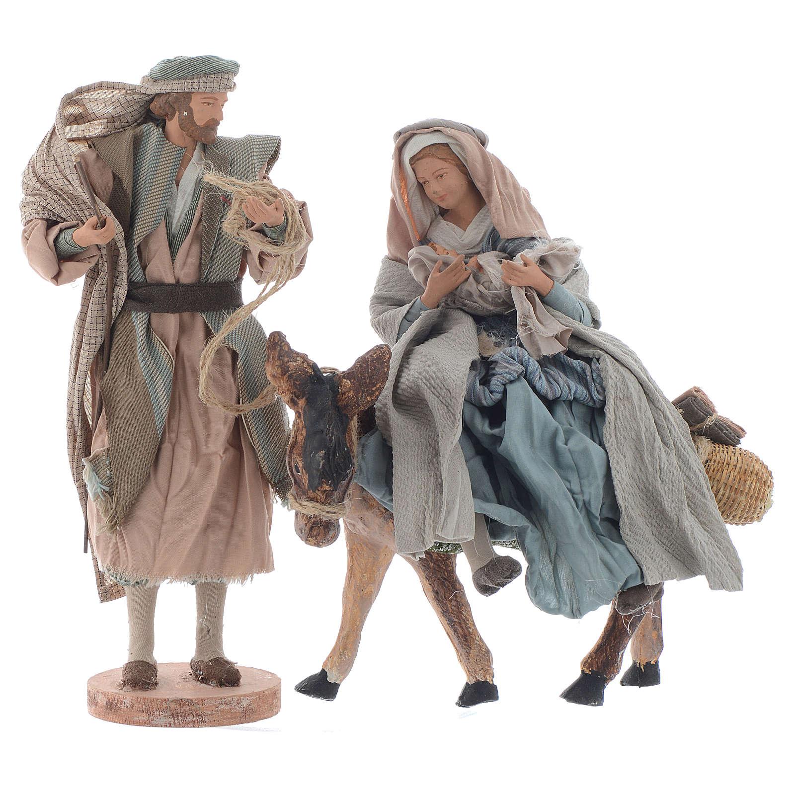 Święta Rodzina z osiołkiem 26cm shabby 3