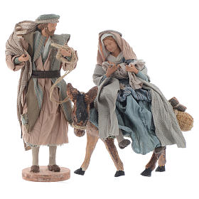 Święta Rodzina z osiołkiem 26cm shabby s1