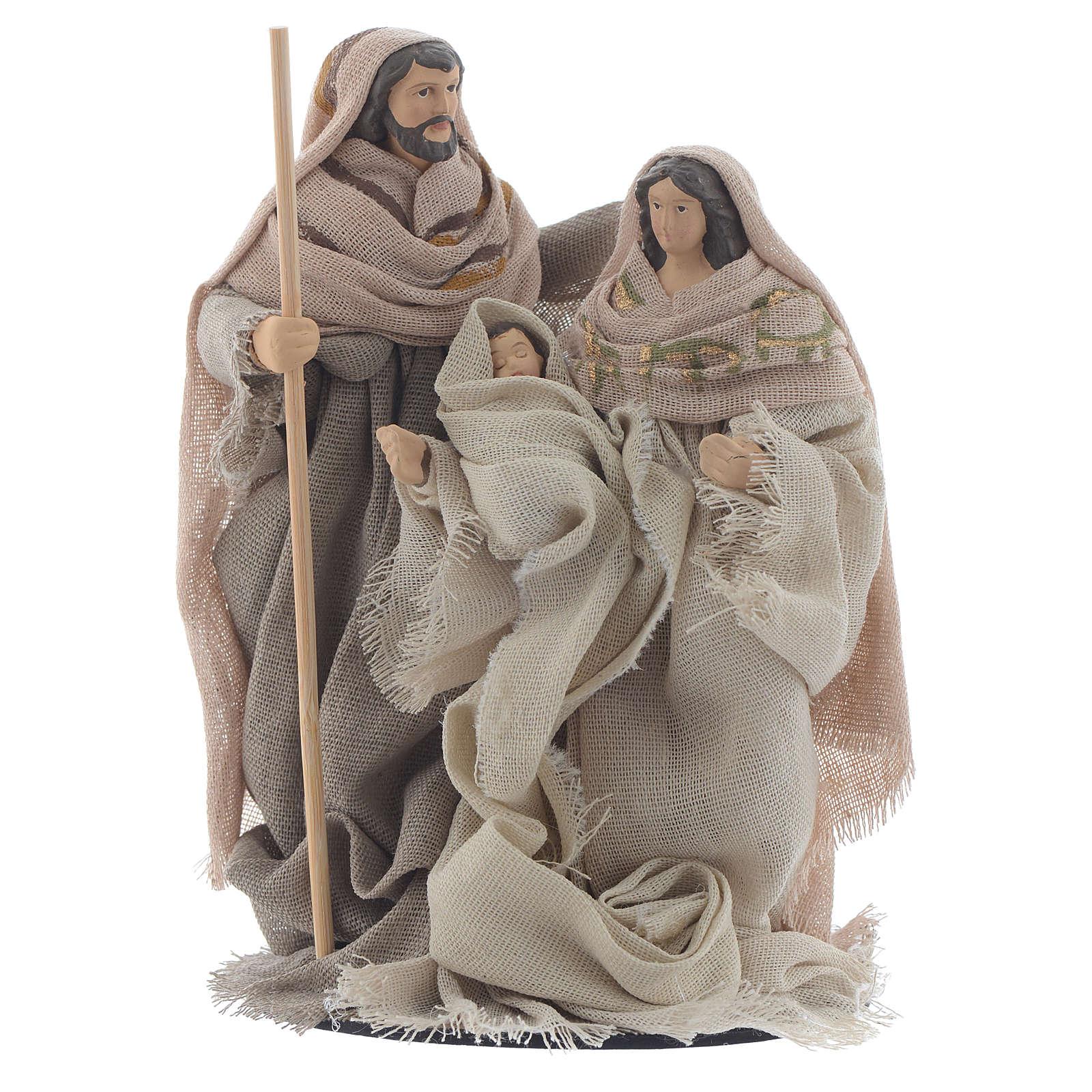 Nativité résine tissu style provençal 15 cm 3