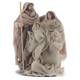 Nativité résine tissu style provençal 15 cm s1