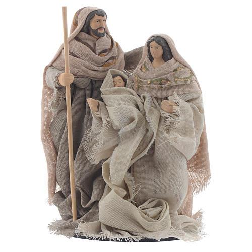 Nativité résine tissu style provençal 15 cm 1