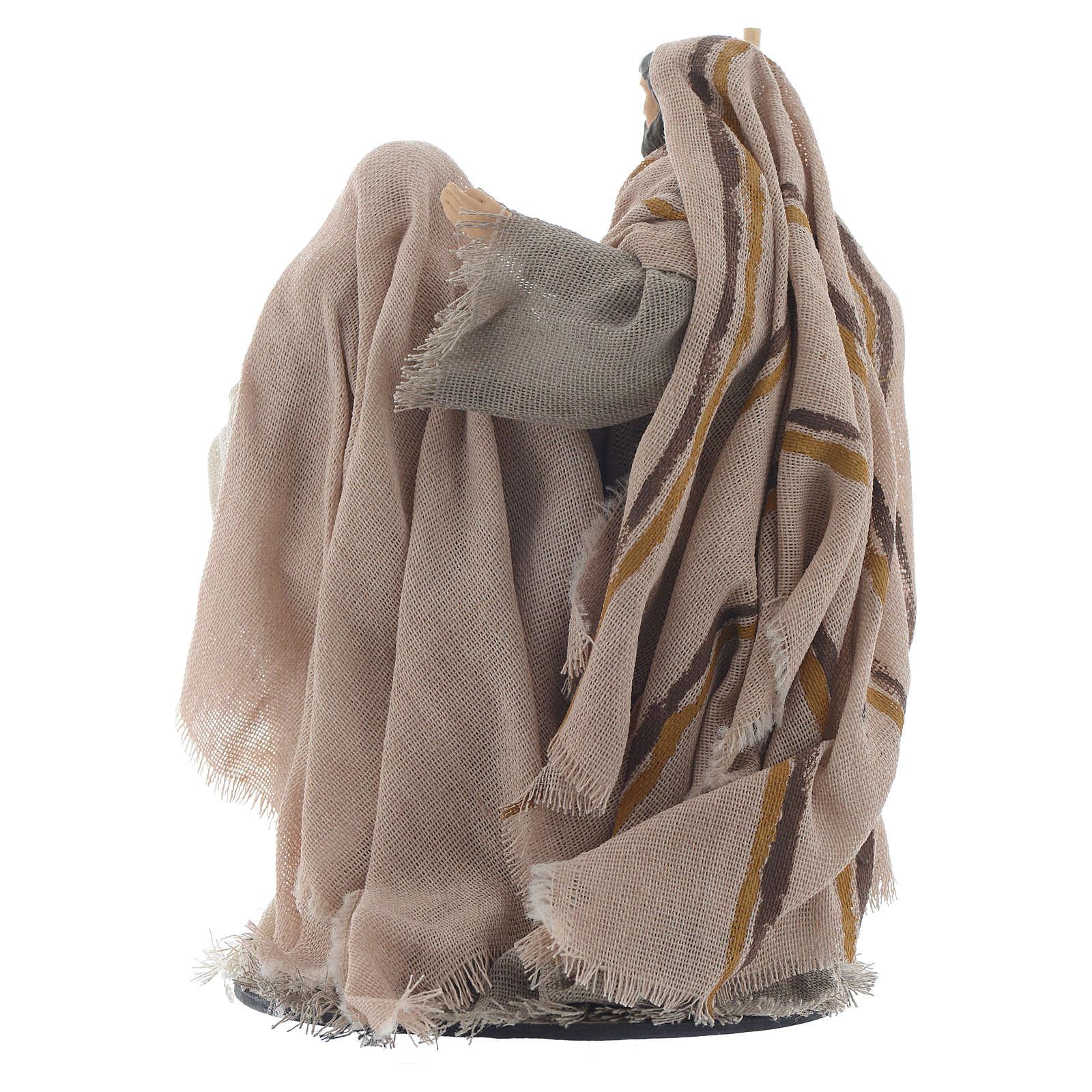 Natività resina stoffa stile provenzale 15 cm 3