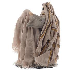 Natività resina stoffa stile provenzale 15 cm s2