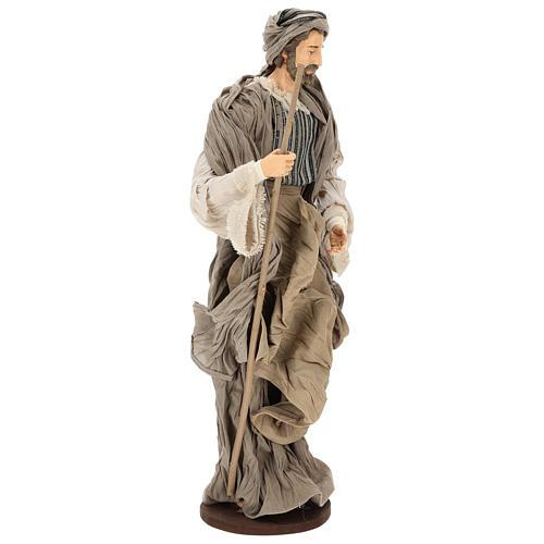 Nativity, Occitan style 55cm in resin and fabric 5