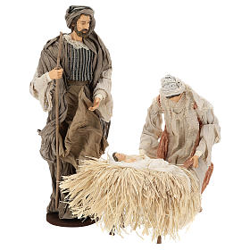 Nativité: Nativité 55 cm en résine tissu style provençal