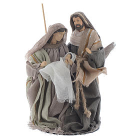 Nativity 20cm in resin and fabric, beige finish s1
