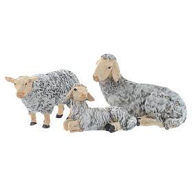 Natività 45 cm in resina fondale e animali s4