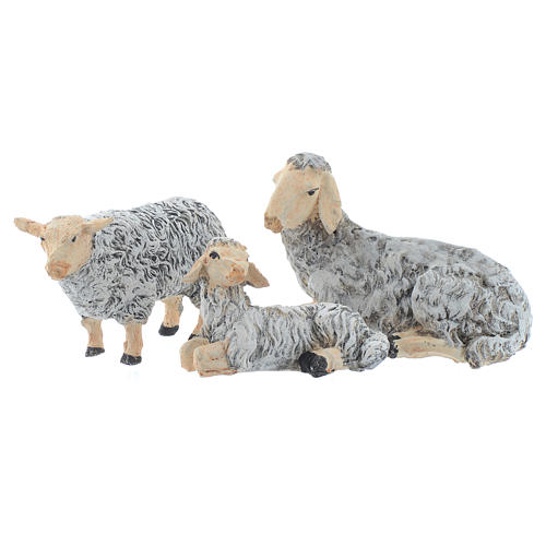 Natività 45 cm in resina fondale e animali 4