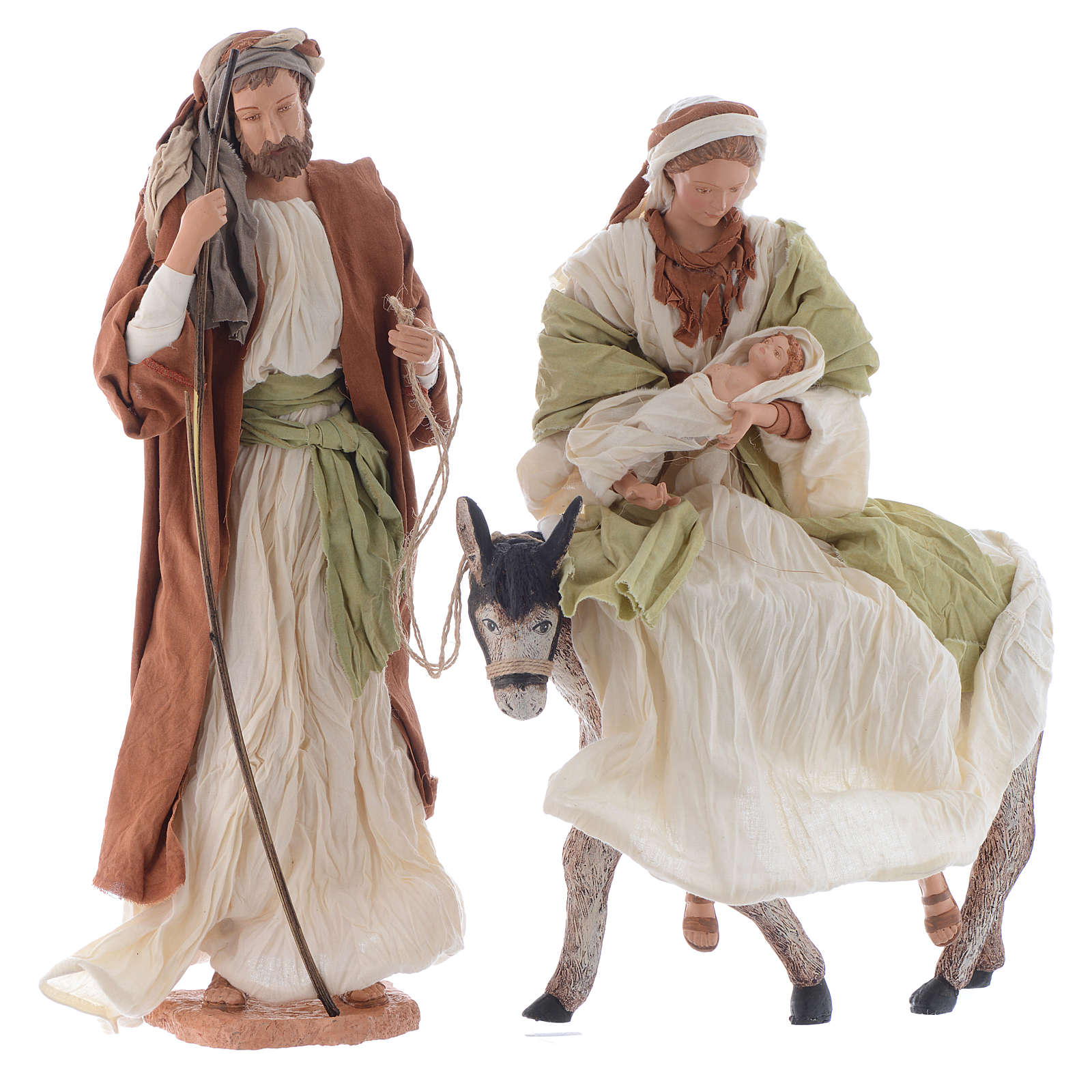 Nativity in white and brown resin 45cm 3