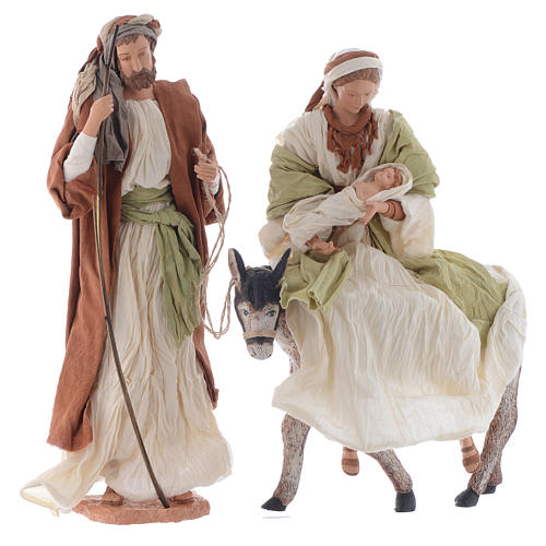 Nativity in white and brown resin 45cm 1