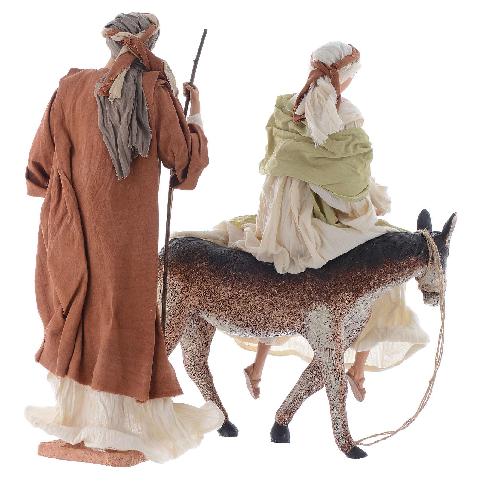 Nativité 45 cm blanc et marron 3