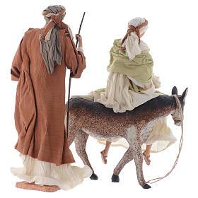 Nativité 45 cm blanc et marron s2