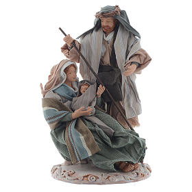 Nativity, green finish with base and box 20cm s1