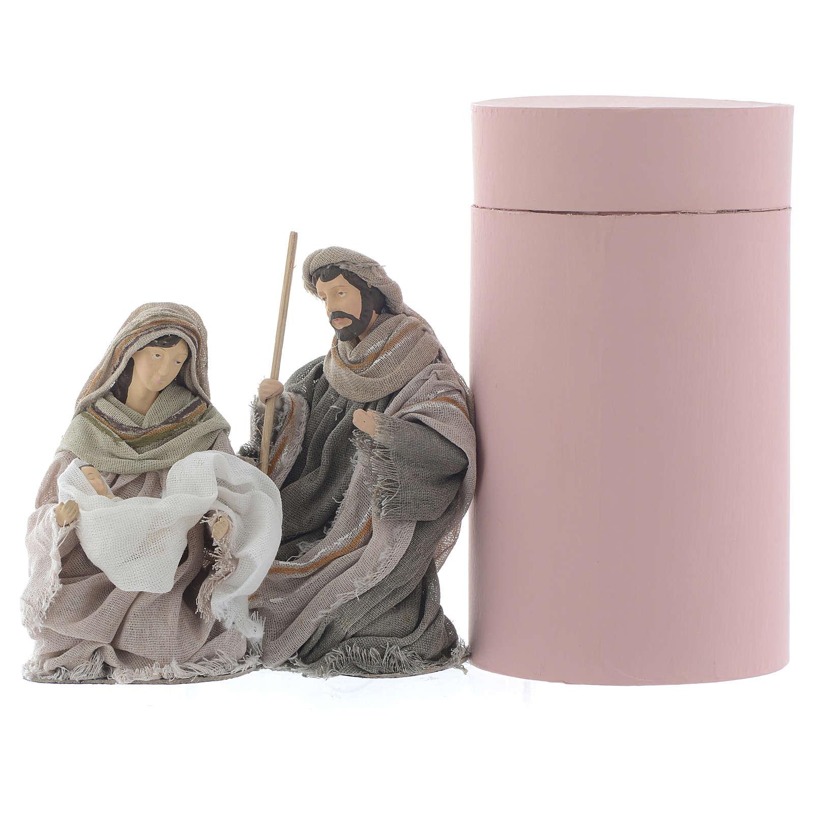 Nativity in brown gauze 15cm 3
